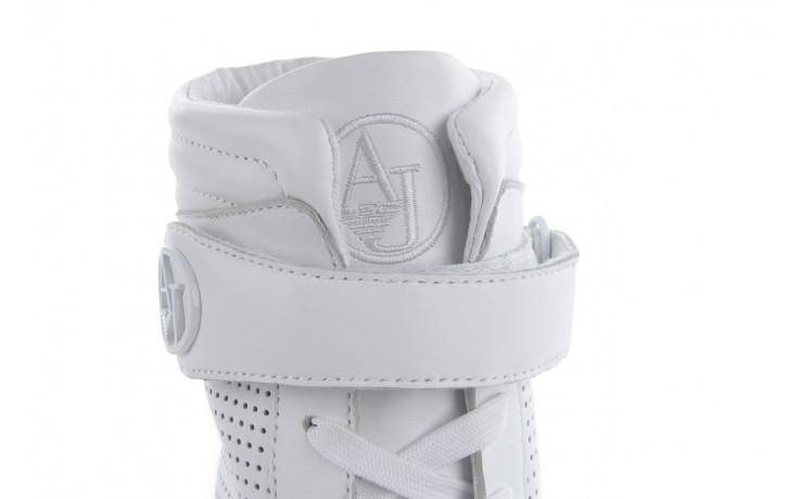 Sneakersy armani jeans a55c5 74 white, biały, skóra naturalna - armani jeans - nasze marki 6