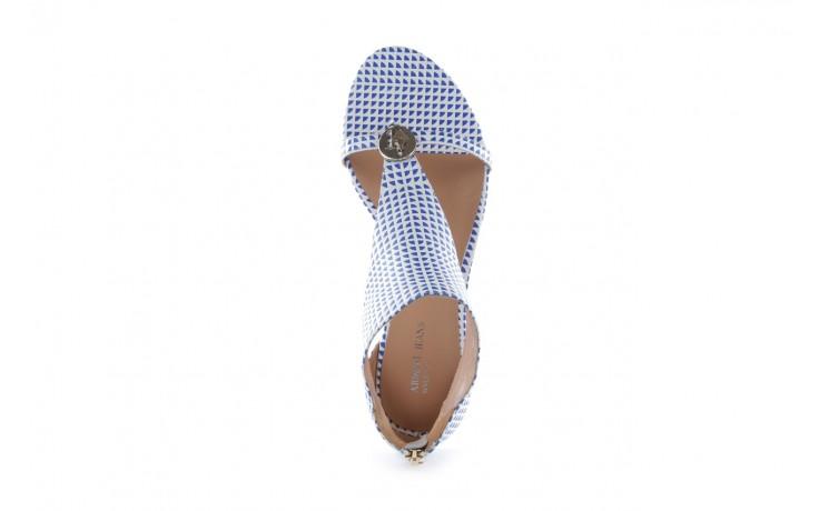 Sandały armani jeans a55e6 39 white, biały, skóra naturalna - armani jeans - nasze marki 4