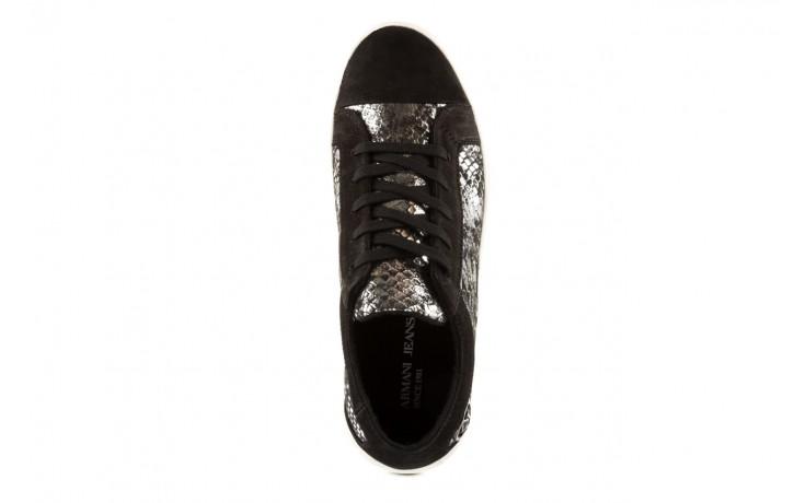 Trampki armani jeans b55g7 57 argento, szary/czarny, skóra naturalna - armani jeans - nasze marki 4