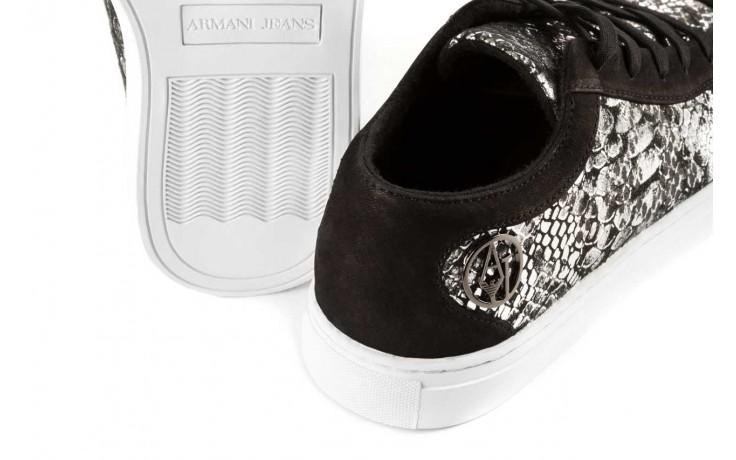 Trampki armani jeans b55g7 57 argento, szary/czarny, skóra naturalna - armani jeans - nasze marki 5