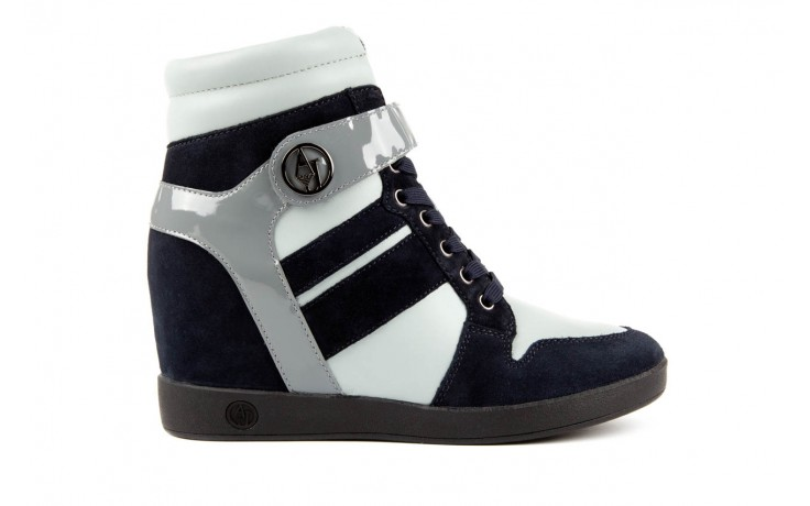 Sneakersy armani jeans b55m1 multicolor, wielokolorowe, skóra naturalna - armani jeans - nasze marki