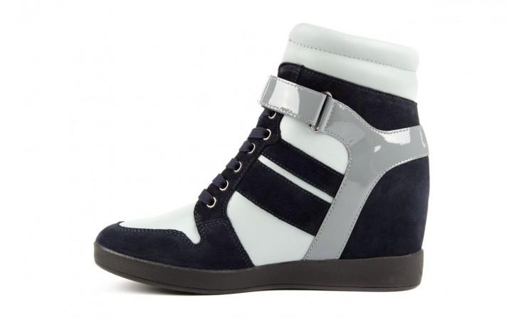Sneakersy armani jeans b55m1 multicolor, wielokolorowe, skóra naturalna 2