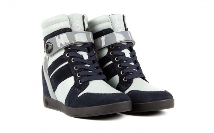 Sneakersy armani jeans b55m1 multicolor, wielokolorowe, skóra naturalna 1