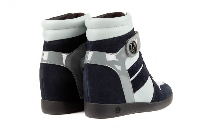 Sneakersy armani jeans b55m1 multicolor, wielokolorowe, skóra naturalna 3