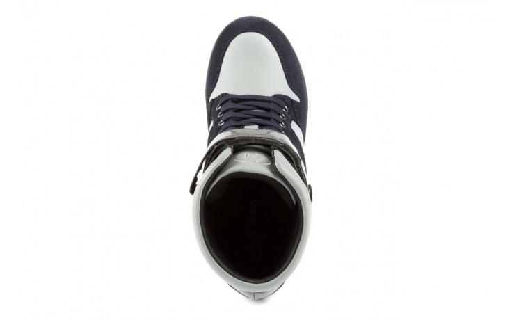 Sneakersy armani jeans b55m1 multicolor, wielokolorowe, skóra naturalna 4