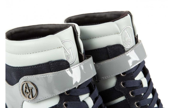Sneakersy armani jeans b55m1 multicolor, wielokolorowe, skóra naturalna 5