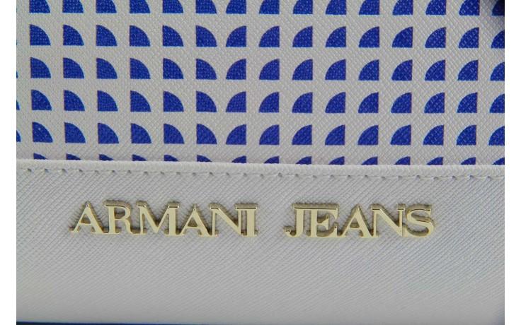 Torebka armani jeans torebka a5283 u7 white, biały, materiał - armani jeans - nasze marki 5