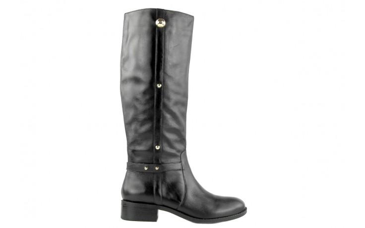 Kozaki armani jeans z5546 41 nero, czarny, skóra naturalna - kozaki - dla niej  - sale 4