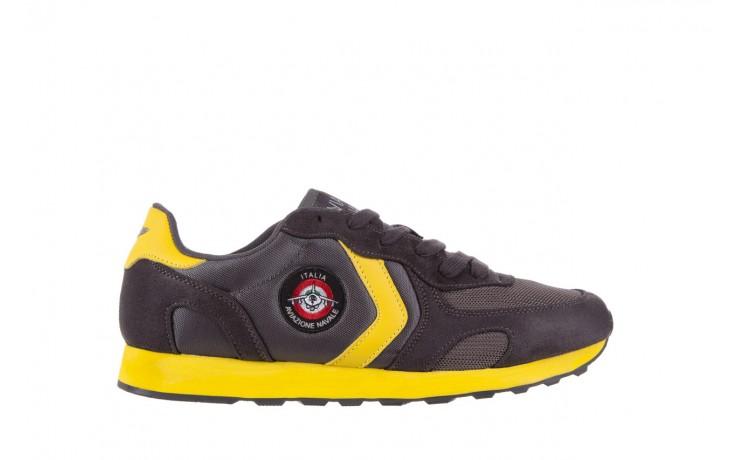 Sneakersy aviazione navale an100 dk. grey, szary, materiał