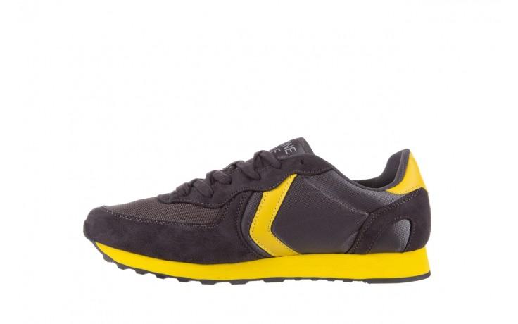 Sneakersy aviazione navale an100 dk. grey, szary, materiał - nasze marki 2