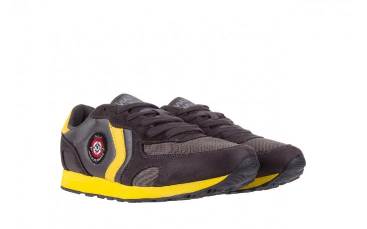 Sneakersy aviazione navale an100 dk. grey, szary, materiał 1