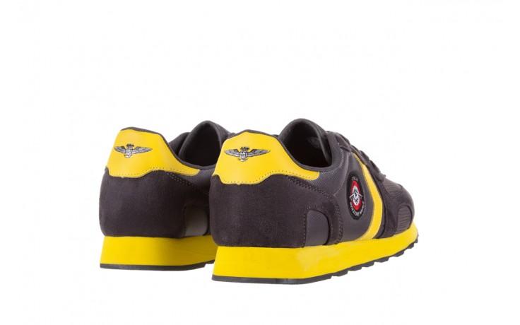 Sneakersy aviazione navale an100 dk. grey, szary, materiał 3