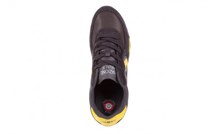 Sneakersy aviazione navale an100 dk. grey, szary, materiał 4