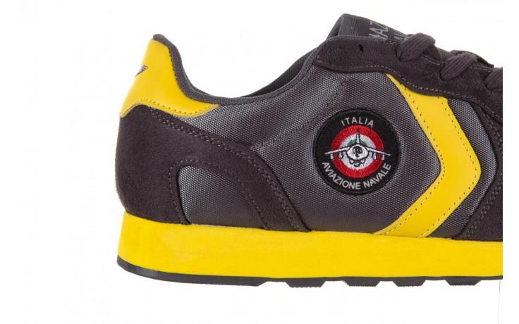 Sneakersy aviazione navale an100 dk. grey, szary, materiał 5