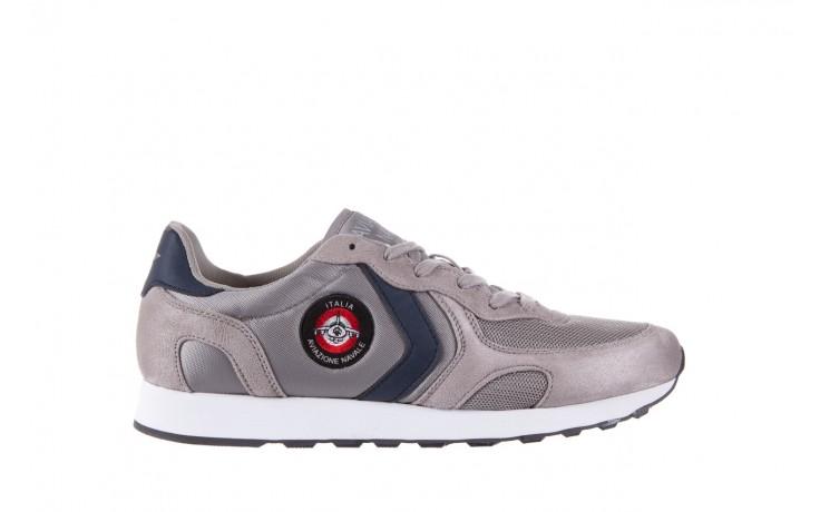 Sneakersy aviazione navale an100 grey, szary, materiał - nasze marki