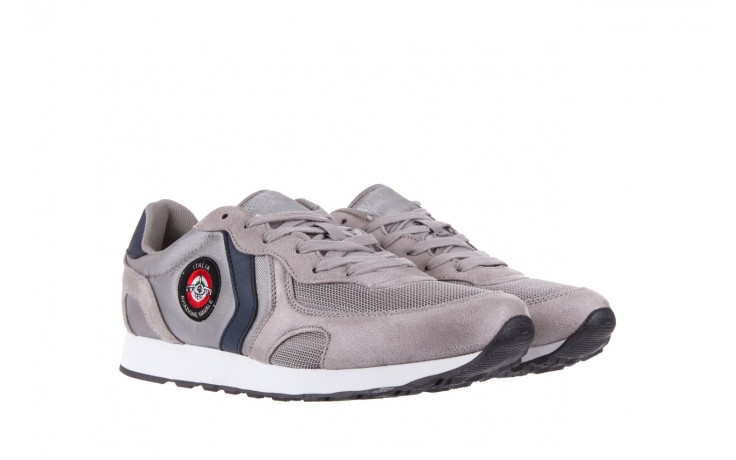 Sneakersy aviazione navale an100 grey, szary, materiał - nasze marki 1