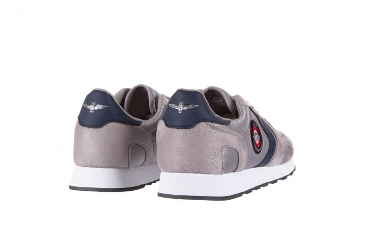 Sneakersy aviazione navale an100 grey, szary, materiał - nasze marki 3