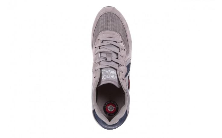 Sneakersy aviazione navale an100 grey, szary, materiał - nasze marki 4