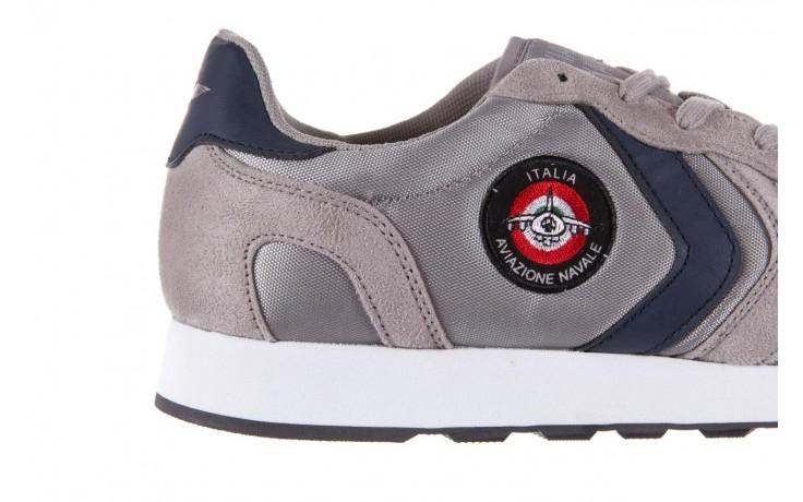 Sneakersy aviazione navale an100 grey, szary, materiał - nasze marki 5