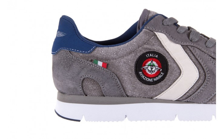 Sneakersy aviazione navale an103 grey, szary, materiał 5