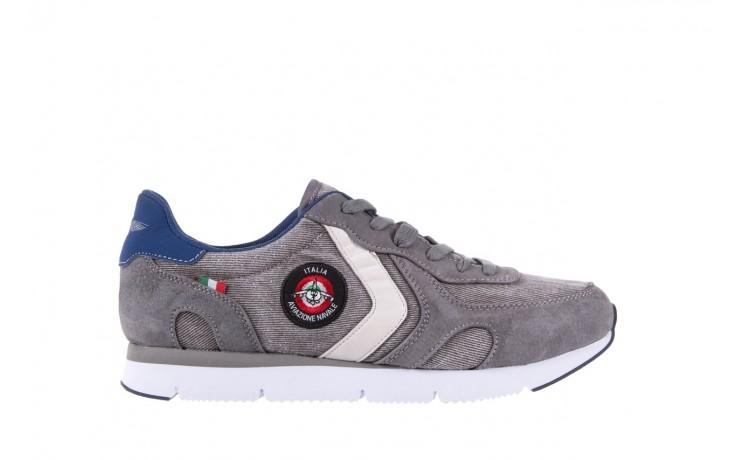 Sneakersy aviazione navale an103 grey, szary, materiał