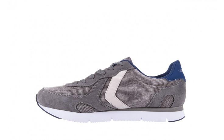 Sneakersy aviazione navale an103 grey, szary, materiał 2