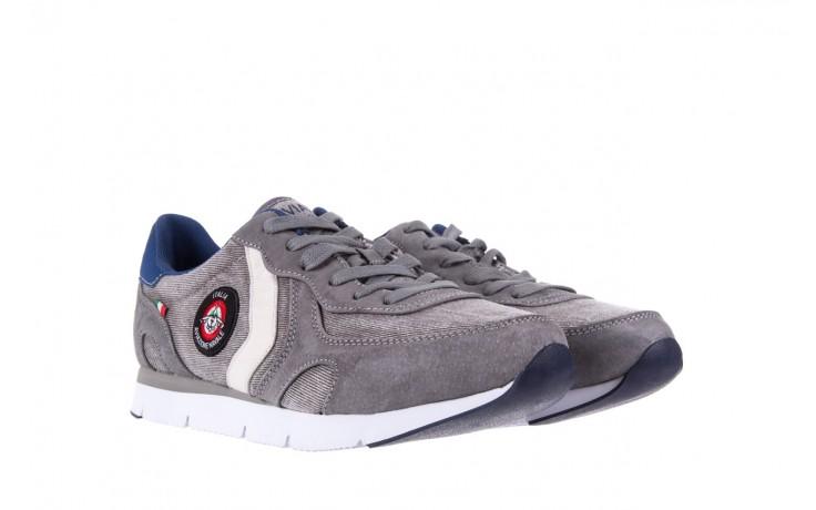 Sneakersy aviazione navale an103 grey, szary, materiał 1