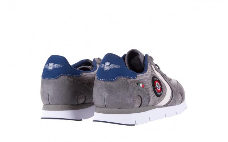 Sneakersy aviazione navale an103 grey, szary, materiał 3