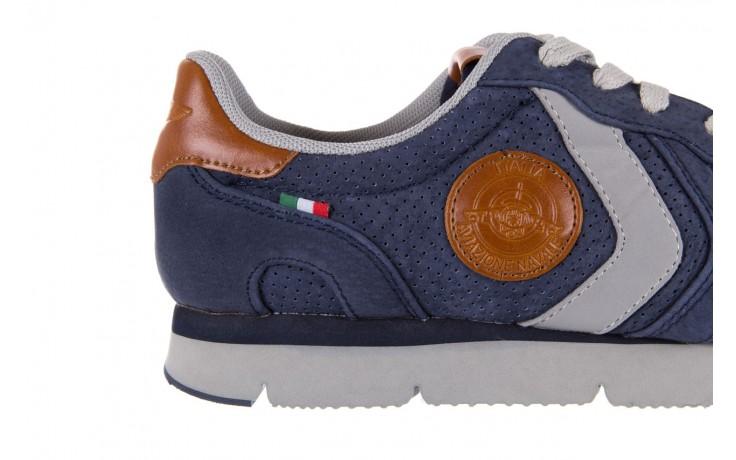 Sneakersy aviazione navale an104 blue, granat, skóra naturalna 5