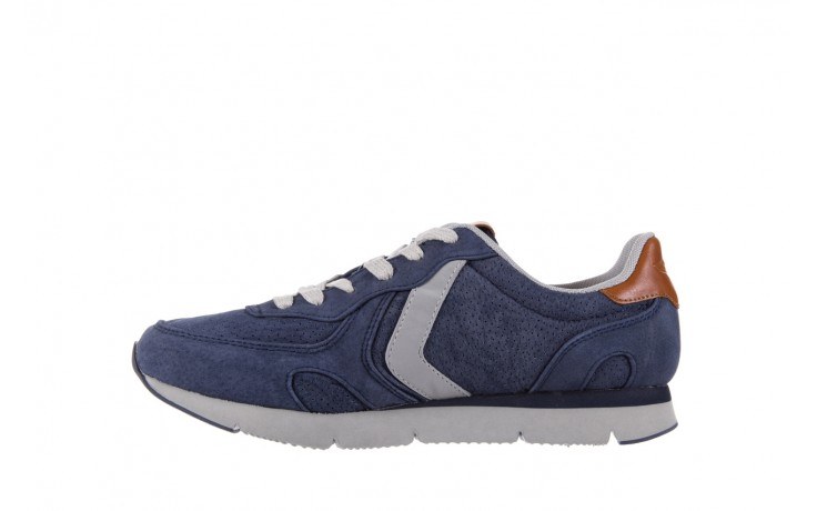 Sneakersy aviazione navale an104 blue, granat, skóra naturalna 2