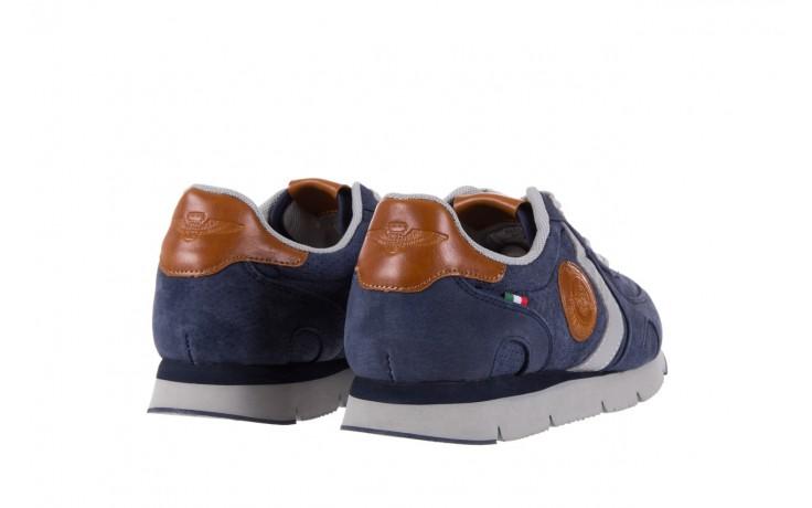 Sneakersy aviazione navale an104 blue, granat, skóra naturalna 3