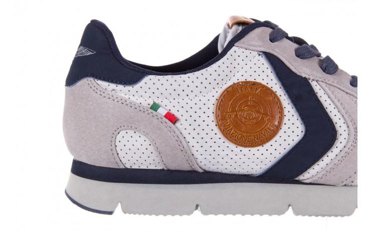 Sneakersy aviazione navale an104 grey, szary/ biały, materiał 5