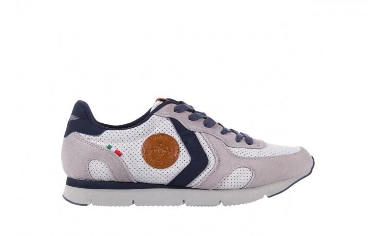 Sneakersy aviazione navale an104 grey, szary/ biały, materiał