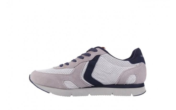 Sneakersy aviazione navale an104 grey, szary/ biały, materiał 2
