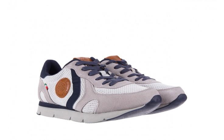 Sneakersy aviazione navale an104 grey, szary/ biały, materiał 1