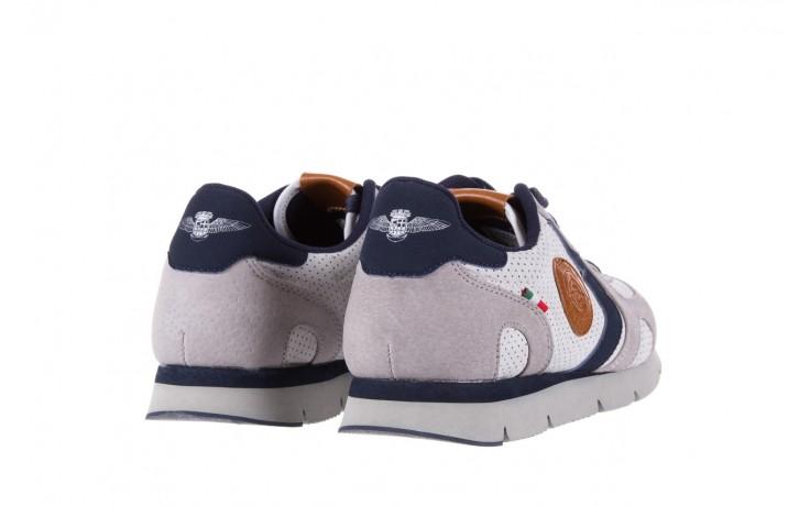 Sneakersy aviazione navale an104 grey, szary/ biały, materiał 3