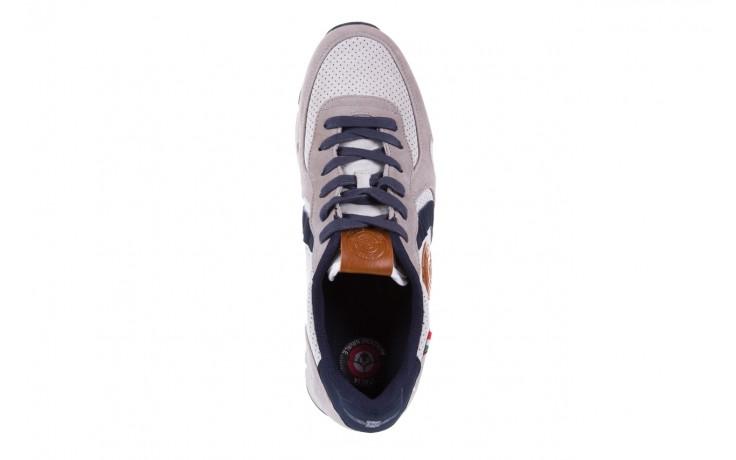 Sneakersy aviazione navale an104 grey, szary/ biały, materiał 4