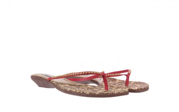 Klapki azaleia 121-az100 red, czerwony, skóra ekologiczna  - azaleia - nasze marki 1