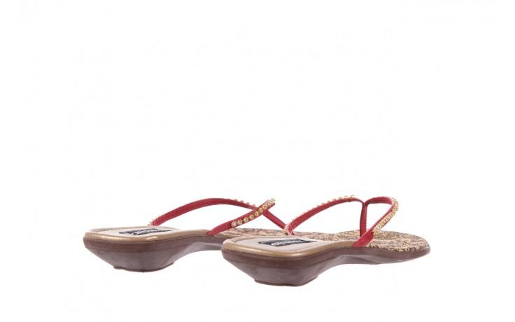 Klapki azaleia 121-az100 red, czerwony, skóra ekologiczna  - azaleia - nasze marki 3