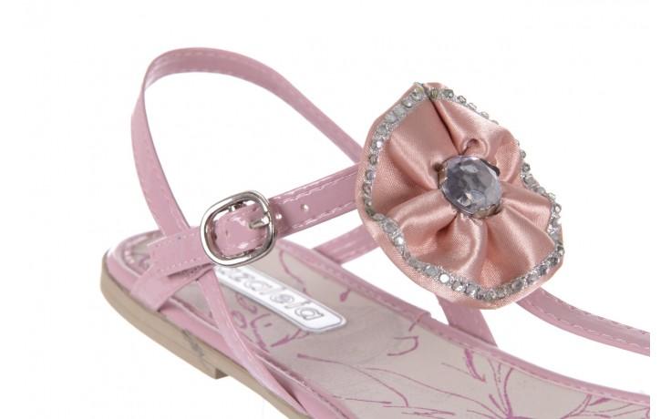Sandały azaleia 130 132 patent pink, róż, guma - japonki - sandały - buty damskie - kobieta 5