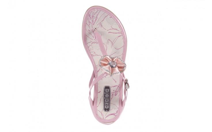 Sandały azaleia 130 132 patent pink, róż, guma - japonki - sandały - buty damskie - kobieta 4
