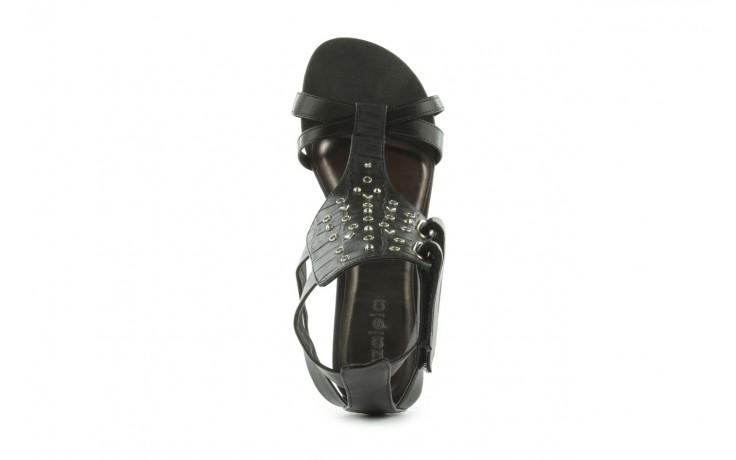 Sandały azaleia 135-az130 black, czarny, skóra ekologiczna  - azaleia - nasze marki 4