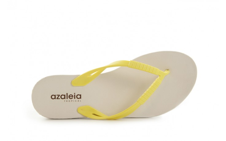 Klapki azaleia 229 335 lime, żółty, guma 4