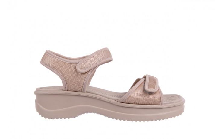 Sandały azaleia 320 321 beige 18, beż, materiał - obuwie sportowe - buty damskie - kobieta