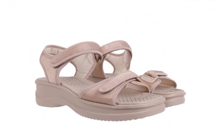 Sandały azaleia 320 321 beige 18, beż, materiał - obuwie sportowe - buty damskie - kobieta 1