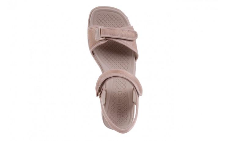 Sandały azaleia 320 321 beige 18, beż, materiał - obuwie sportowe - buty damskie - kobieta 4