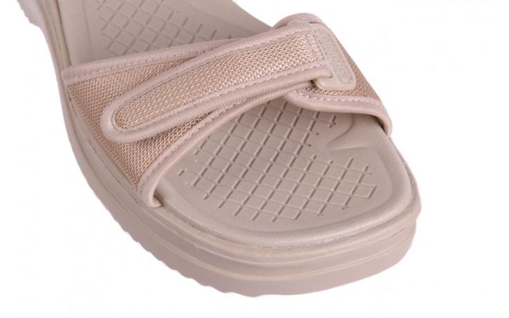 Sandały azaleia 320 321 beige 18, beż, materiał - obuwie sportowe - buty damskie - kobieta 5