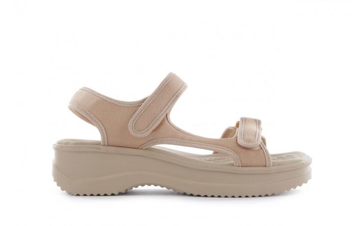 Sandały azaleia 320 323 beige 18, beż, materiał - azaleia - nasze marki