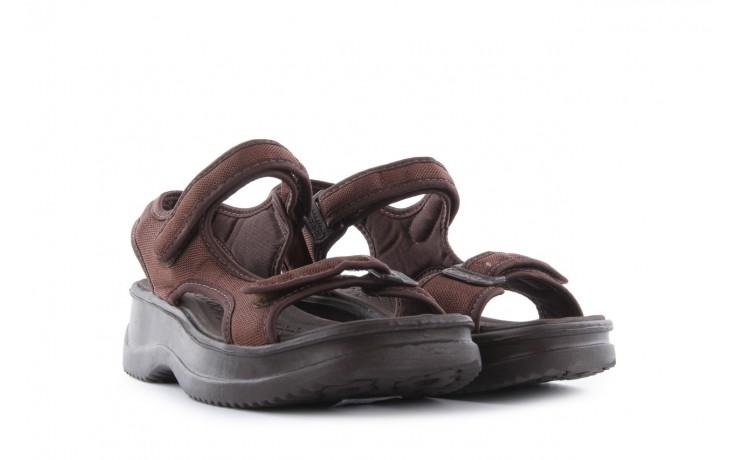 Sandały azaleia 320 323 brown 18, brąz, materiał - obuwie sportowe - buty damskie - kobieta 1
