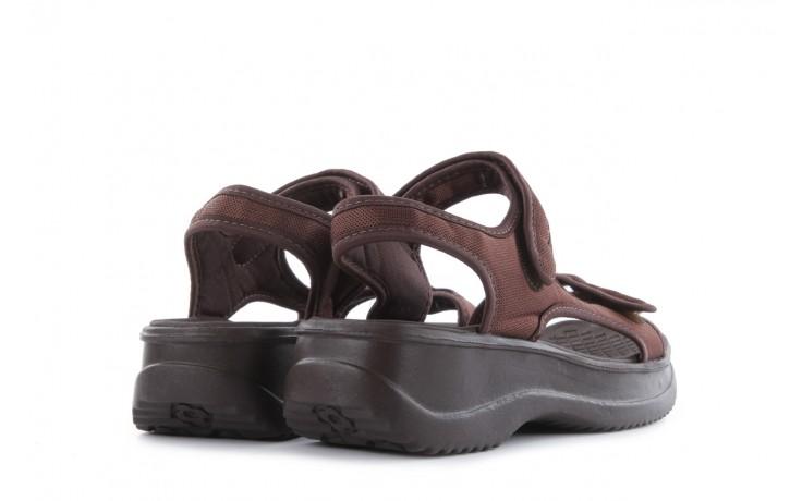 Sandały azaleia 320 323 brown 18, brąz, materiał - obuwie sportowe - buty damskie - kobieta 3